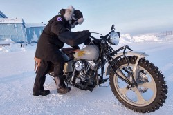 Starting motorcycle in winter