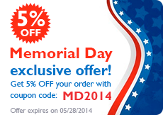 Memorial Day 2014 Coupon Code