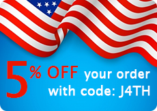 4th of July Coupon Code BatterySharks.com