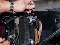 motorcycle battery installation