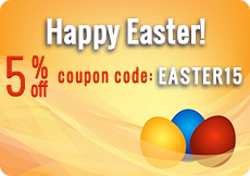 Coupon Code for 5 % off Easter 2015 - Batterysharks