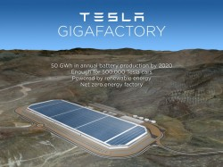 tesla battery gigafactory